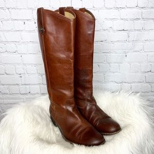 Frye Melissa Button Extended Calf Riding Boots
